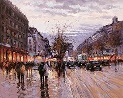Romance in Paris by Henderson Cisz - Hand Finished Limited Edition on Canvas sized 25x20 inches. Available from Whitewall Galleries
